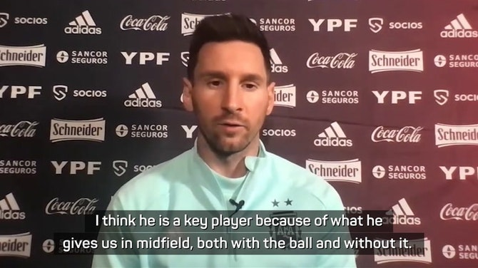 Messi enjoying relationship with 'very important' De Paul