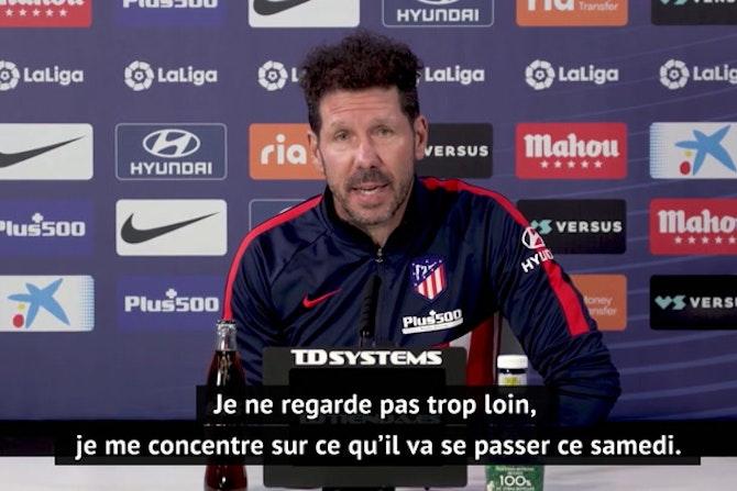 """36e j. - Simeone : """"Koeman a bien fait progresser Barcelone depuis la première partie de saison"""""""