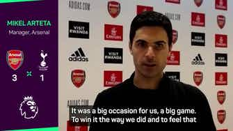 Preview image for Arteta celebrates Auba and Arsenal youngsters after derby triumph