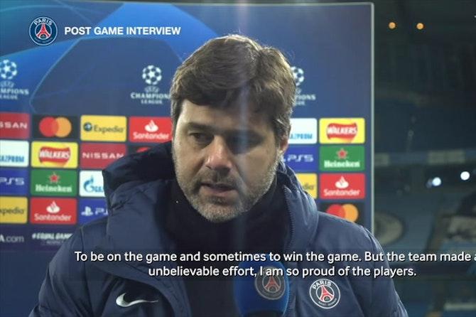 Pochettino: 'I am so proud of the players'