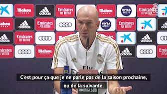 """Image d'aperçu pour 38e j. - Zidane sur son futur : """"Tout change tellement vite en football"""""""