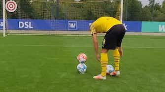 Imagen de vista previa para El increíble truco de Erling Haaland en las instalaciones del Dortmund