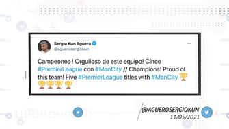 Preview image for Socialeyesed - Manchester City players take to social media to celebrate Premier League title