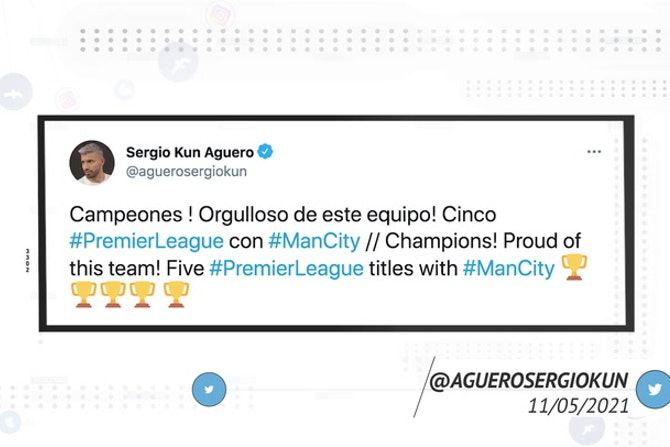 Socialeyesed - Manchester City players take to social media to celebrate Premier League title