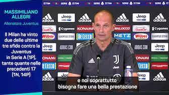 """Anteprima immagine per Allegri: """"Juve-Milan? Più importante per loro..."""""""
