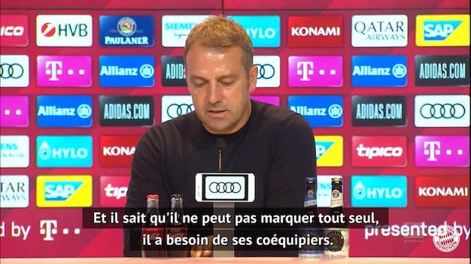 """Image d'aperçu pour Bayern - Flick : """"Quand Lewandowski peut battre un record, nous l'aidons"""""""