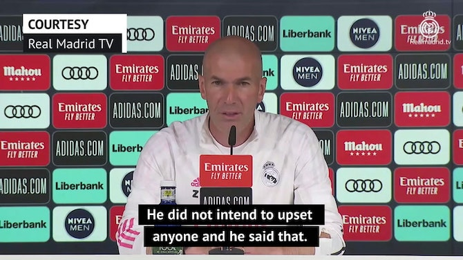 Preview image for Hazard has apologised and meant no offence - Zidane