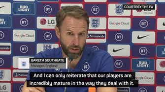Preview image for Southgate vows to 'keep fighting the battle' against racism