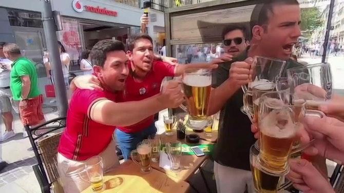 Fans von Portugal und Deutschland in Feierlaune