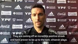 Preview image for Scaloni not underestimating Brazil despite absences