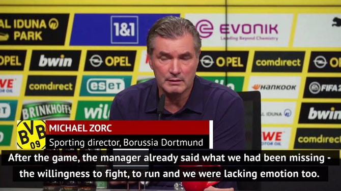 Zorc likens Dortmund's defending against Lazio to social distancing
