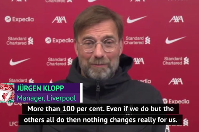 Klopp not concerned about sealing title for Man City