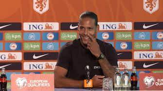 """Anteprima immagine per Van Dijk punzecchia Haaland: """"Dice che sono il migliore. Perché lo sapeva?"""""""