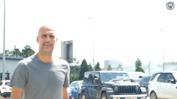 Vorschaubild für Manchester City stars return to pre-season training