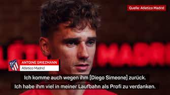"""Vorschaubild für Griezmann: """"Eine Ehre, unter Simeone zu spielen"""""""