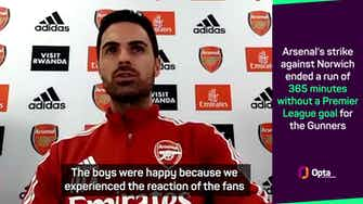Preview image for Arteta sees 'bright lights' at the end of Arsenal tunnel