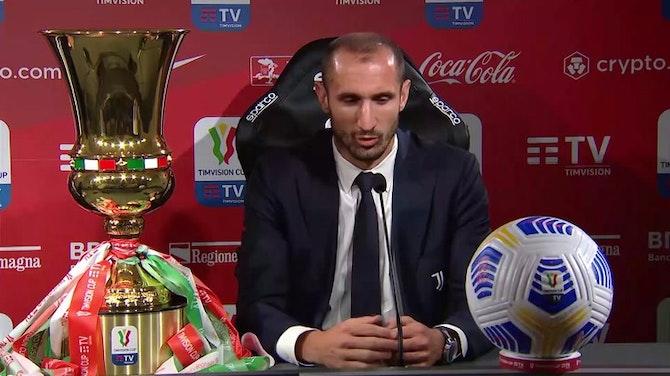 """Chiellini: """"Ultima finale con la Juve? Penso solo alla coppa"""""""