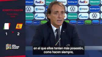 """Imagen de vista previa para Mancini: """"Si ya es difícil jugar contra España 11 vs. 11..."""""""