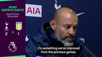Preview image for Nuno delighted with Spurs reaction following Villa win