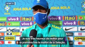 """Image d'aperçu pour Brésil - Gerson : """"Heureux de revêtir le maillot de la Seleção"""""""