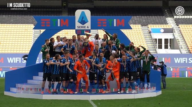 Anteprima immagine per L'Inter festeggia la vittoria dello Scudetto 20-21