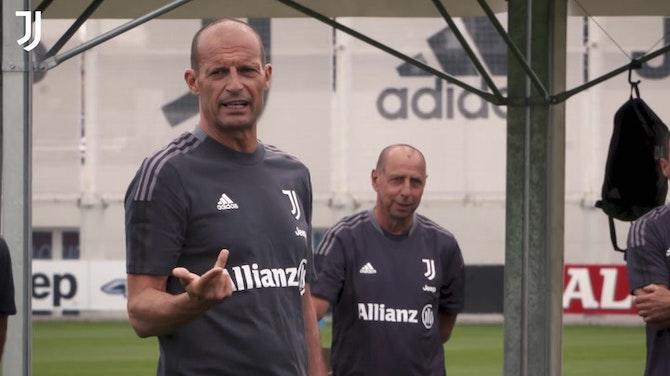 Image d'aperçu pour Le premier entrainement 2021-22 d'Allegri avec la Juventus