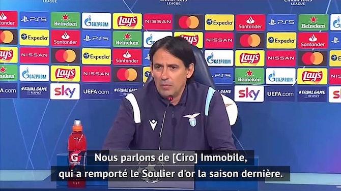 """8es - Inzaghi : """"Un beau duel entre Immobile et Lewandowski"""""""