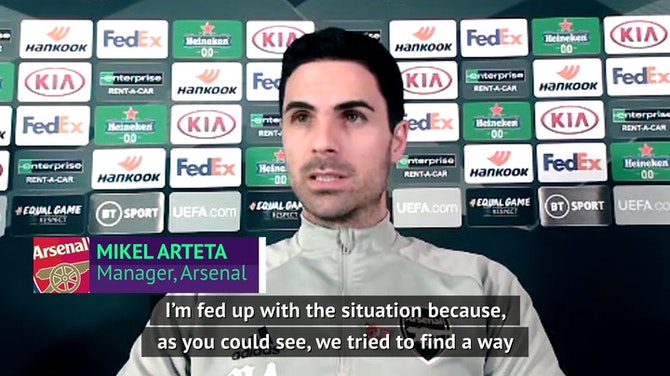 Preview image for Arteta 'fed up' with Saliba situation