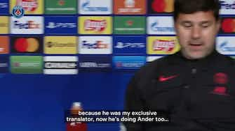 Preview image for Pochettino jokes that PSG's translator is a former spy