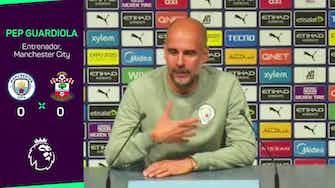 Imagen de vista previa para Guardiola no culpa a los delanteros por la falta de gol ante el Southampton