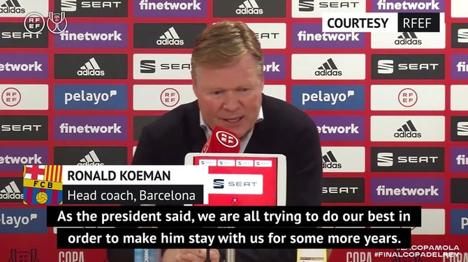 Preview image for Copa del Rey heroics 'proved' Messi is the best - Koeman