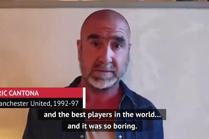 Manchester United great Cantona speaks out against Super League