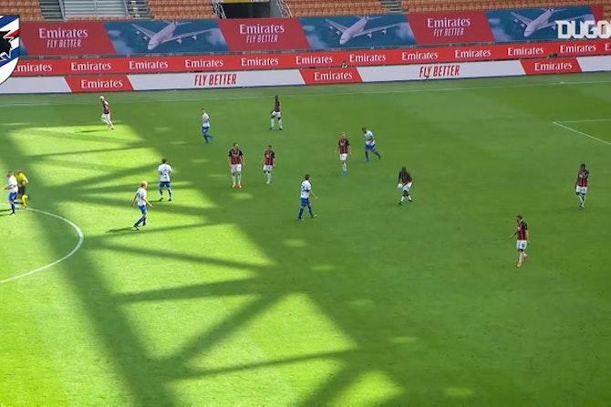 Il clamoroso gol di Quagliarella contro il Milan
