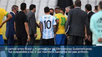 Imagen de vista previa para Brasil - Argentina suspendido a los 5 minutos