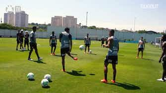 Preview image for Corinthians training session focused on Fortaleza, at CT Joaquim Grava
