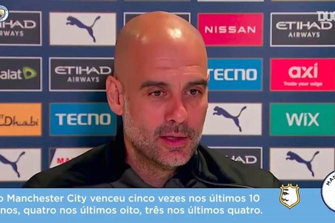 """Guardiola exalta sequência de títulos do Manchester City: """"não esperava isso"""""""