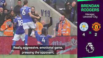 Preview image for Rodgers delighted with 'excellent' Leicester as Solskjaer left 'disappointed'