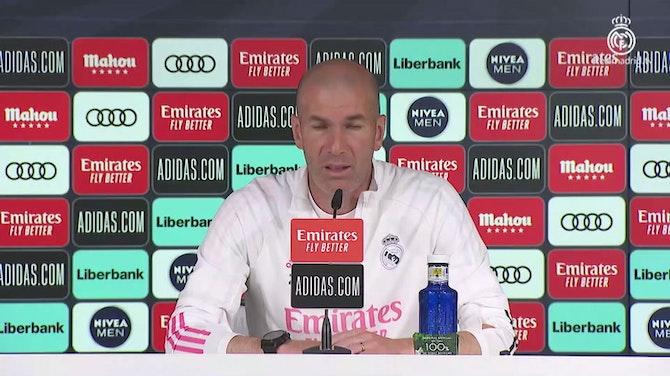 """Imagen de vista previa para Zidane, en titulares: """"Cuando veo entrenar a mis jugadores, me emociono"""""""
