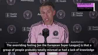 Preview image for Phil Neville praises brother Gary for leading vehement opposition to the ESL