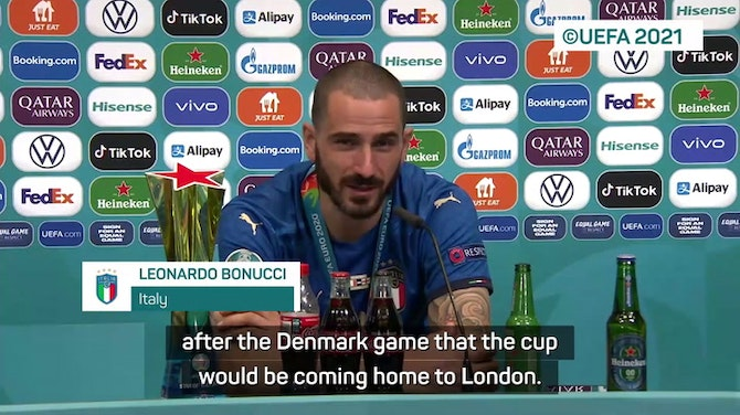 Preview image for It's coming Rome - Bonucci mocks England anthem