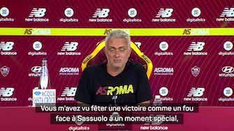 """Image d'aperçu pour AS Rome - Mourinho : """"Ici, on passe trop vite de l'euphorie à la dépression"""""""