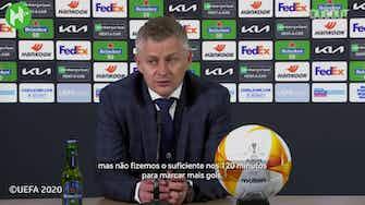 Imagem de visualização para Ole Gunnar Solskjær analisa perda na final da Europa League