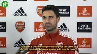Imagem de visualização para Arteta diz que é doloroso ver o Arsenal fora das competições europeias