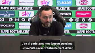 """Image d'aperçu pour Super Ligue - De Zerbi : """"C'est une chose triste qui peut ruiner le football"""""""