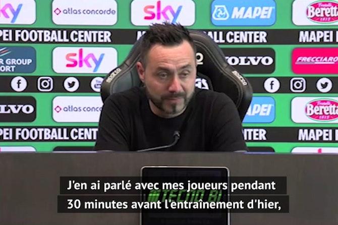 """Super Ligue - De Zerbi : """"C'est une chose triste qui peut ruiner le football"""""""