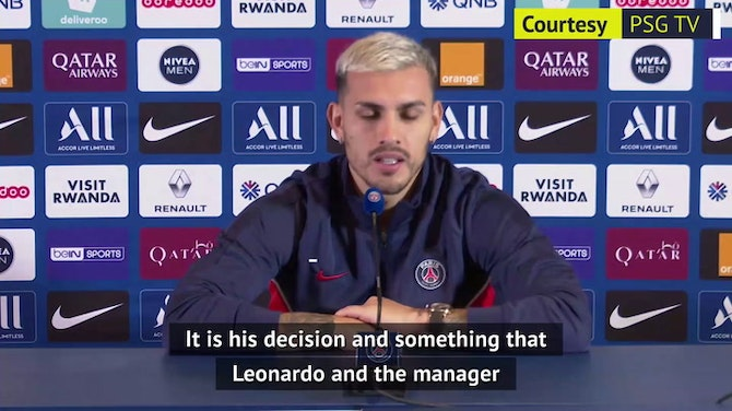 Preview image for PSG's Paredes admits 'it's natural to want Messi in your team'