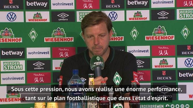 """Image d'aperçu pour 34e j. - Le soulagement de l'entraîneur du Werder après un match """"sous immense pression"""""""