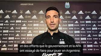 """Image d'aperçu pour Argentine - Pour Scaloni, le Brésil """"n'est pas l'endroit idéal"""" pour accueillir la Copa America"""