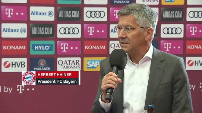Vorschaubild für Hainer: Kahn wird als Manager Geschichte schreiben