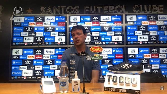 Imagem de visualização para Fernando Diniz vê bom jogo do Santos e lamenta chances perdidas